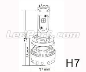 Mini lampadina LED H7 Tuning
