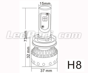 Mini lampadina LED H8 Tuning