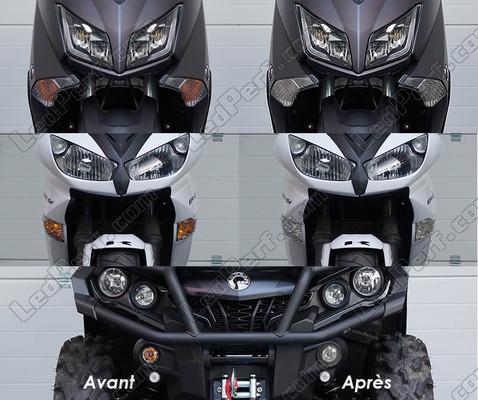NBX Fanale posteriore a LED per moto con indicatori di direzione integrati per Yamaha Fz6 Fazer 600 2004-2009