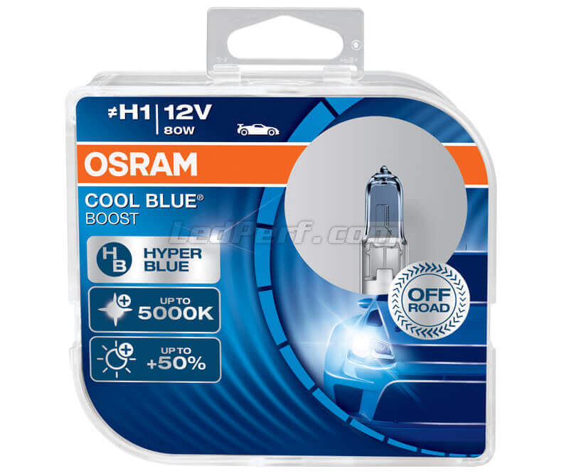 Kit da 2 lampadine H1 Osram Cool Blue Boost - 5000K - 62150CBB-HCB