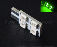 LED T10 Rotation a  4 led HP - Illuminazione laterale - verde W5W