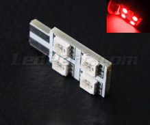 LED T10 Rotation a  4 led HP - Illuminazione laterale - rossa W5W