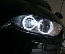 Kit angel eyes H8 à ledsa LED (bianca puro 6000K) per BMW Serie 3 (E92 - E93) - standard
