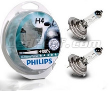 Kit da 2 lampadine H4 Philips X-treme Power Vision +100%