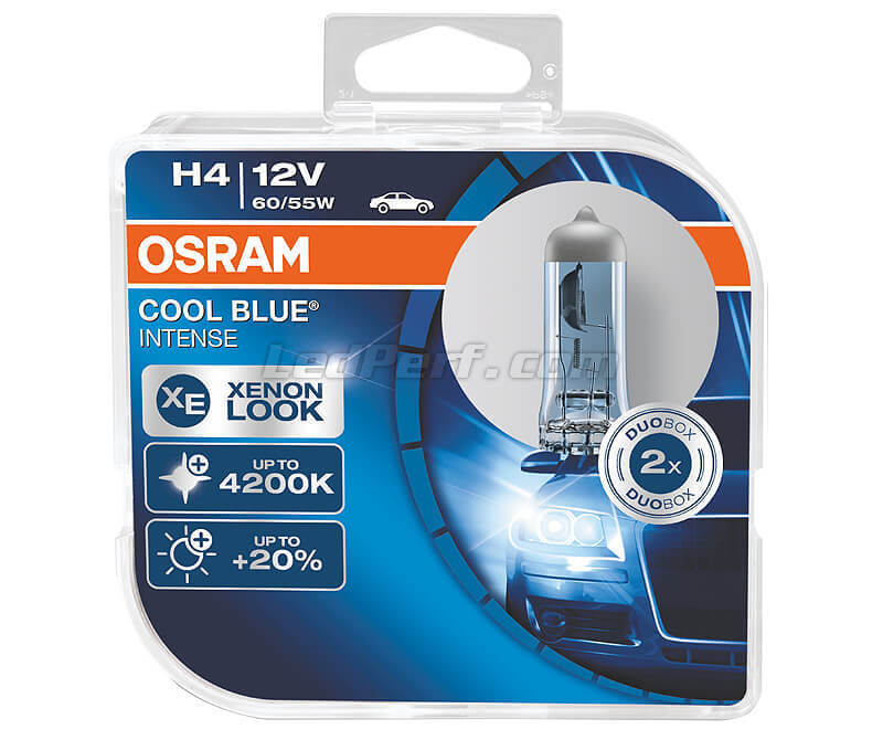 Kit da 2 lampadine H4 Osram Cool Blue Intense - 64193CBI-HCB
